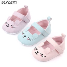Brand New Fashion Newborn Baby Girl Princess Shoes Soft Sole First Walker Mary Jane Flats Cartoon An