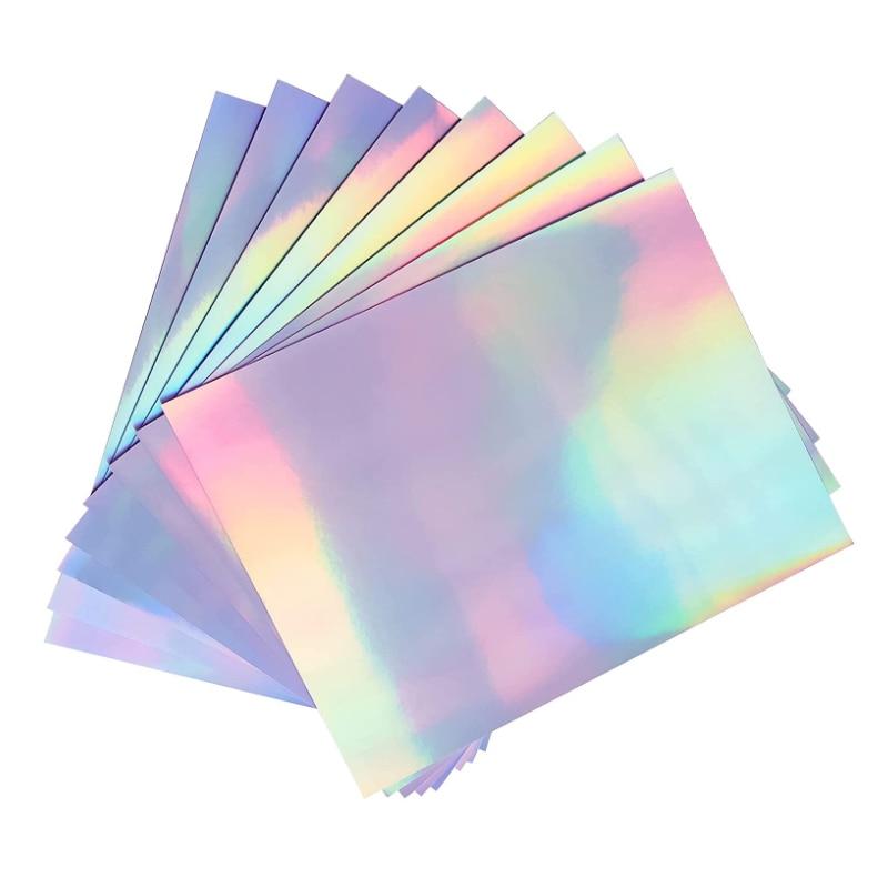 Голографическая фотобумага A4, радужная виниловая наклейка, водонепроницаемая бумага для струйного и лазерного принтера