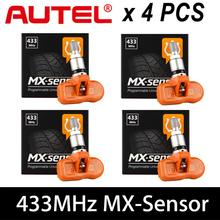 Autel tpms Mx 센서 4PCS 433MHZ 범용 TPMS 센서 mx-senor MX 433MHz 타이어 압력 프로그래밍 모니터 지원 433MHZ