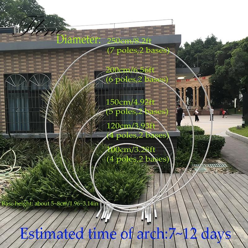 Arco circular de la boda arco redondo de la boda arco de metal globos florales decoración del arco de la Ducha del bebé fondo de la decoración del soporte del telón de fondo de la fiesta