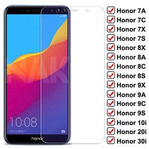 Защитное стекло с полным покрытием 9D для Huawei Honor 8X, 8A, 8C, 8S, 7X, 7A, 7C, 7S, 9X, 9A, 9C, 9S, 10i, 20i, 30i, закаленное стекло для защиты экрана