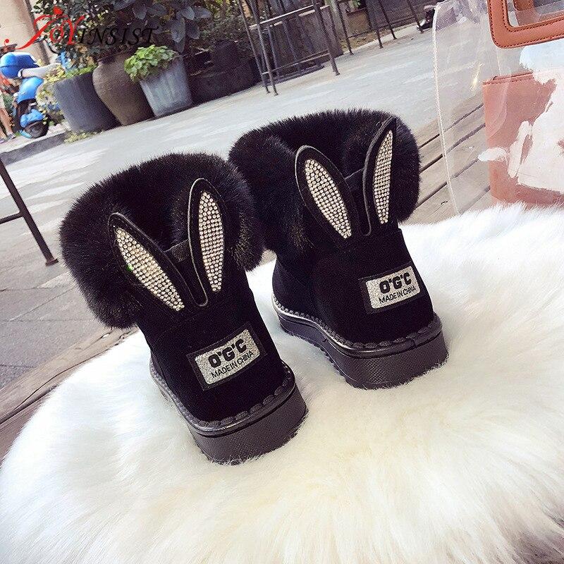 Новинка 2021, женские зимние ботинки для снежной погоды, обувь с бархатной подкладкой, уличная теплая обувь с мехом, Женские однотонные повседневные ботинки