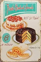 66retro fresh baked goods best in town metal tin sign wall decorative sign tin sign 7 8x11 8 inch