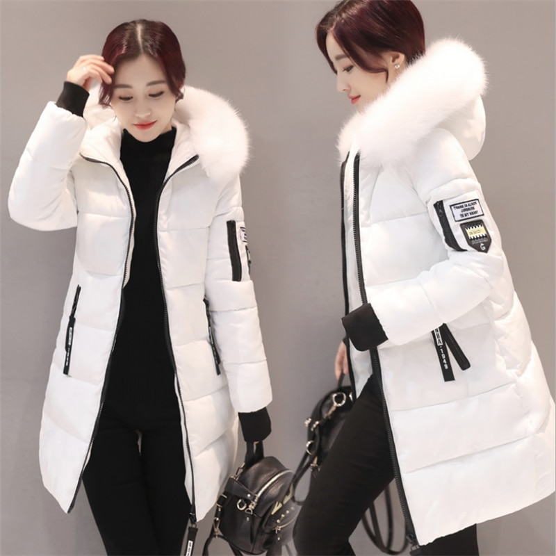 Парка женская 2021, зимние пальто, длинные хлопковые повседневные меховые куртки с капюшоном, женские толстые теплые зимние парки, Женское па...