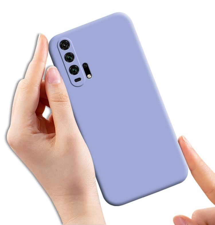 Funda de silicona líquida para Huawei Nova 5T Honor 20 funda trasera de silicona funda de teléfono suave Honor 20s Honor 20 Pro funda Honor20