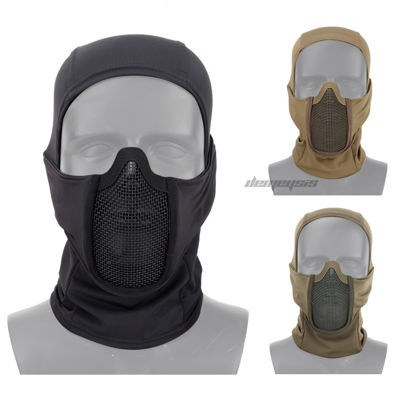 Máscara táctica militar al aire libre para la cabeza transpirable Airsoft Paintball caza máscaras resistente al desgaste disparar máscara de combate