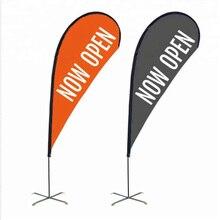 Wholesale Custom Logo Print Polyester Advertising Beach Feather Teardrop Flag