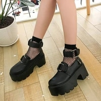 female lolita cute mary janes pumps platform wedges high heels womens sweet gothic punk shoes cosplay shoes zapatos de mujer