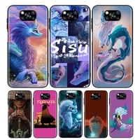 cute raya and the last dragon for xiaomi poco x3 nfc m3 m2 x2 f3 f2 pro c3 f1 mi play mix 3 a2 a1 6x 5x black soft phone case