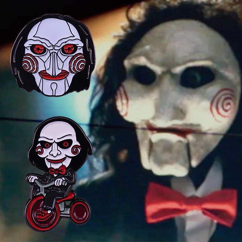 Cara de marioneta de Jigsaw Billy placa Horror Serie de películas VI...