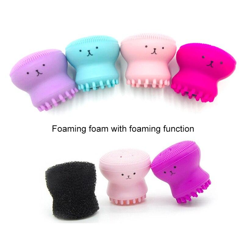 Face Cleansing Brush Silicone Octopus Shape Deep Pore Exfoliating Apparatu Blackhea Facial Scrub Washing Brushes Cleansing Tools