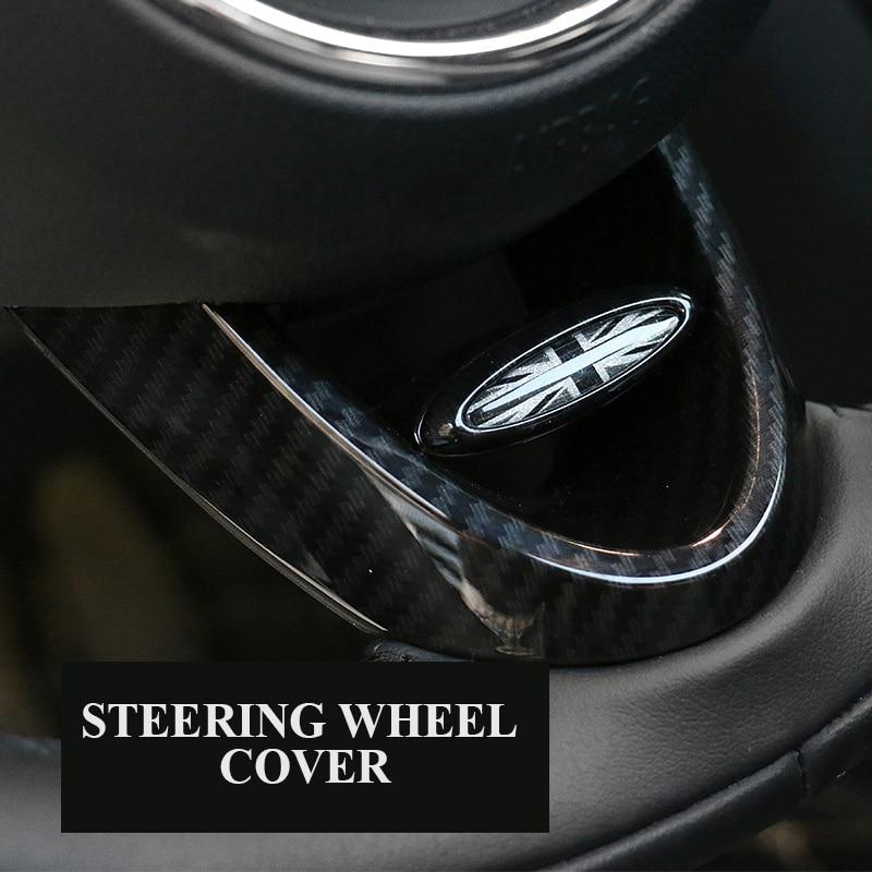 AliExpress - 1Pcs ABS Carbon Fiber Car Steering Wheel Decorative Shell Sticker Cover For Mini Cooper F54 F55 F56 F60 Countryman Car Styling