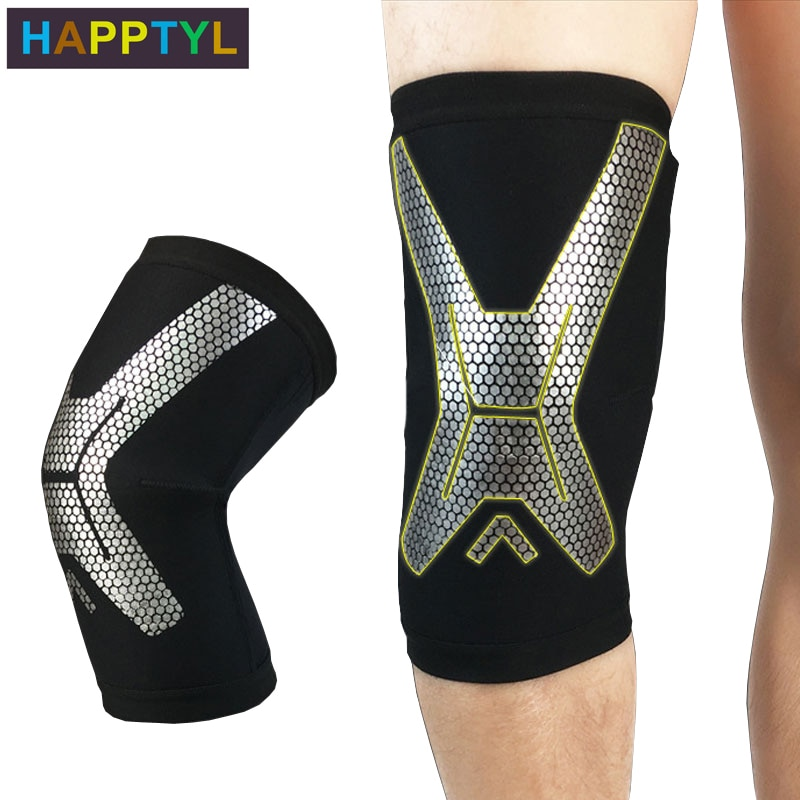 HAPPTYL 1Pcs Knee Brace, Knee Compression Sleeve Support for Running, Arthritis, ACL, Meniscus Tear, Sports, Joint Pain Relief недорого