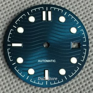 Bliger 31mm Adjust ETA 2824 2836 MIYOTA 8215 NH35 NH35A NH36 movement blue sterial Watch dial