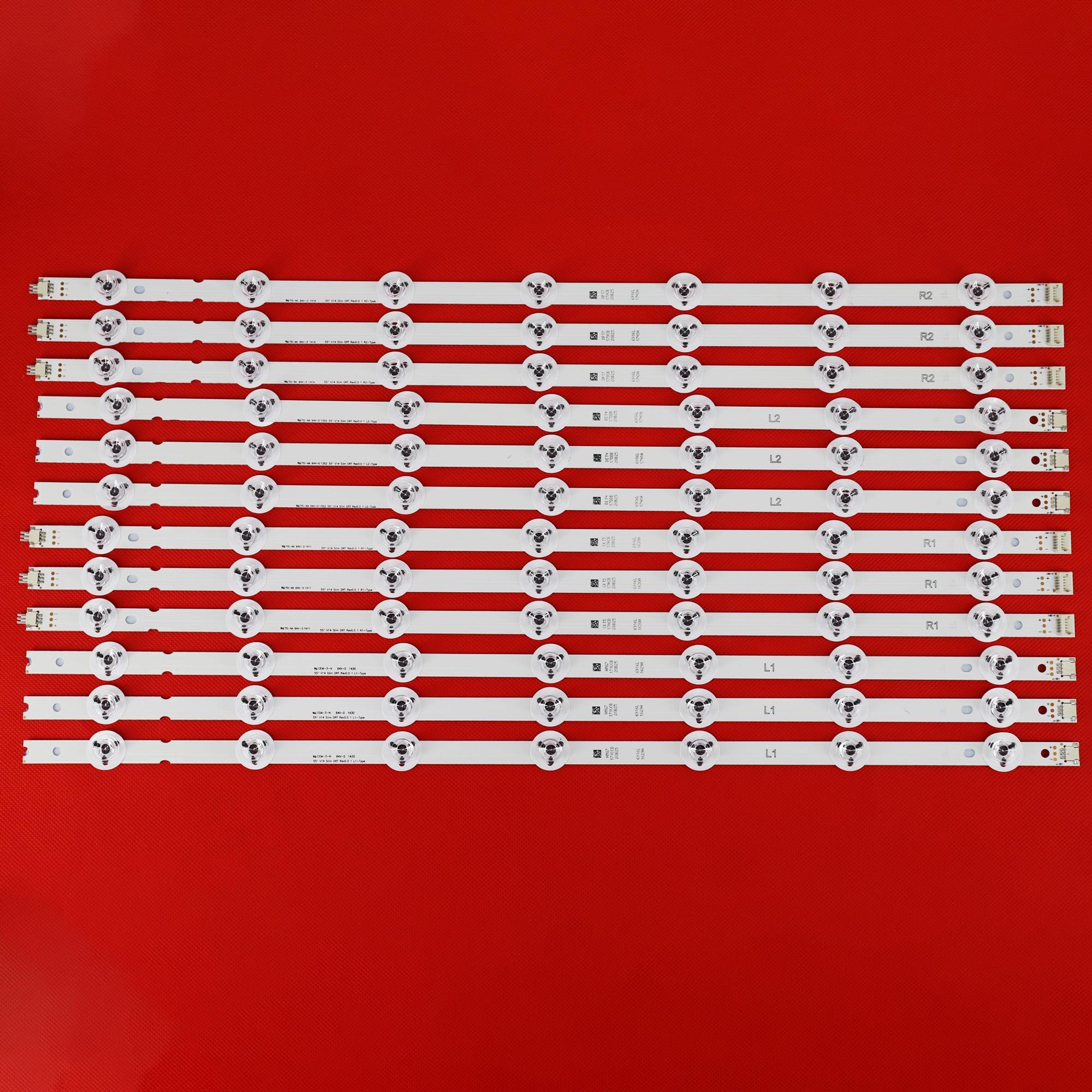 12 قطعة LED الخلفية قطاع ل LG 55LB677V 55LB670V 55LB679V 55LB690V 55LB700V 55LB720V 55LB730V 6916L-1629A 1630B 1743B 1741A