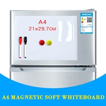 Большая распродажа, магнитная доска А4, мягкая магнитная доска, сухая стираемая доска для рисования и записи, холодильник с бесплатным подар...