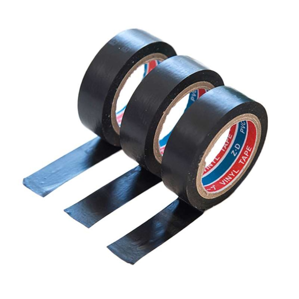 Cinta eléctrica autoadhesiva impermeable de PVC de 6m, aislamiento de alambre de electricista, cinta plástica ignífuga eléctrica de alto voltaje