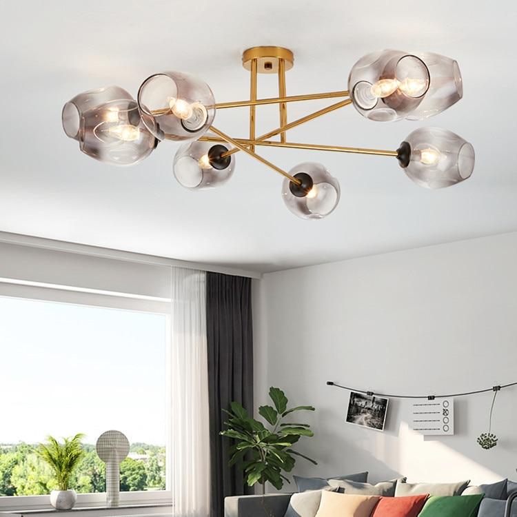 Led كرة زجاجية قلادة أضواء داخلي المنزل قلادة مصباح المطبخ الطعام بار استوديو تعليق تركيبات إضاءة الإنارة تعليق