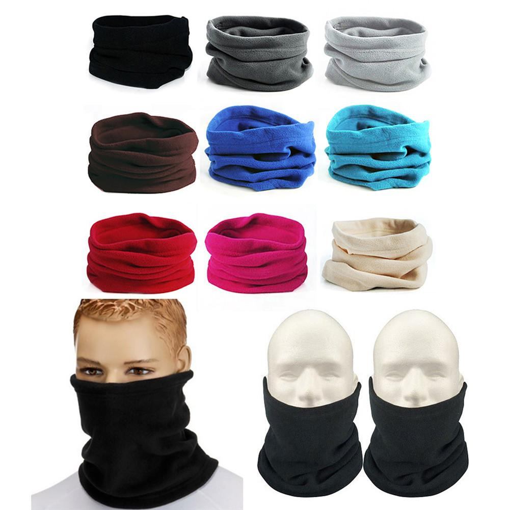Outdoor Winter Thicken Warm Fleece Neck Warmer Cycling Scarves Neck Scarf Neck Gaiter Winter Headwear Warm Keeping Mask Hat