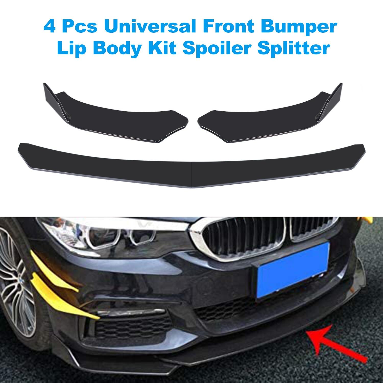 4 Pieces Car Front Bumper Lip Body Kit Spoiler Splitter Abs Bumper Canard Lip Splitter Universal For Tesla Model 3 Sedan Bumpers Aliexpress