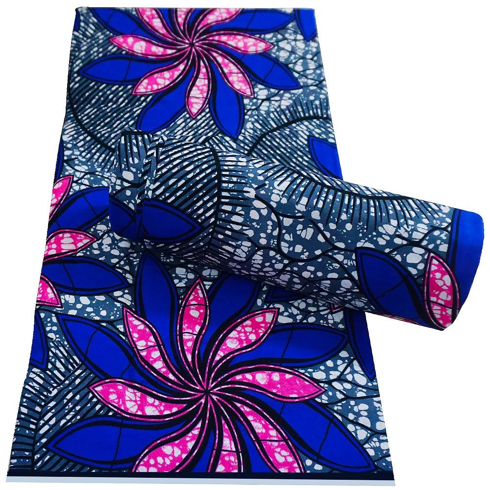 Tecido de Cera Ancara Africano Impresso Real Costura Retalhos Tissu 100% Algodão Alta Qualidade Vestido Vestuário Artesanato Material Acessório