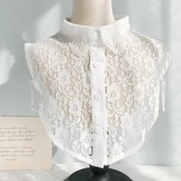 2021 lace chiffon doll fake collar ladies shawl wrap removable detachable embroidered false collar aesthetic clothes accessory