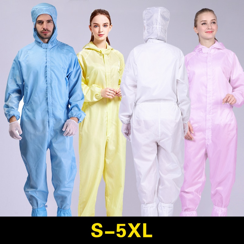 Overalls Anti Static Coverall Cleanroom Suit Dust Work Clothes Electronic Chemical Protective Clothing Painting Factory Uniform aluminum foil clothing fire fighting suit fireman outside suit high tempreture protective clothes radiation proof clothes