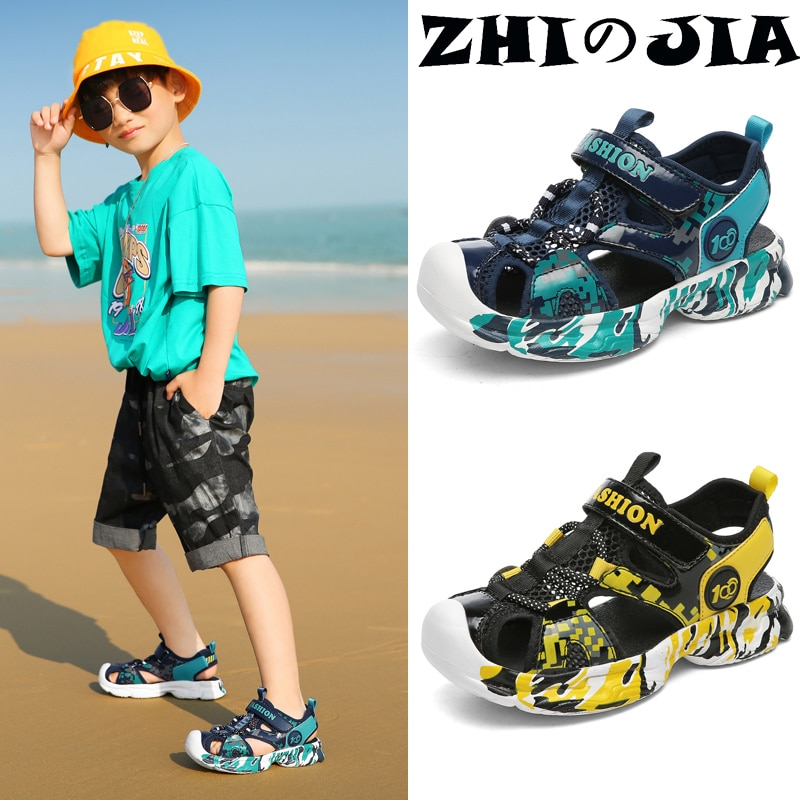 Kids Boys Sandals High Quality Camouflage Cut-Outs Child Big Girls and Boys Sandalias Children's Sho