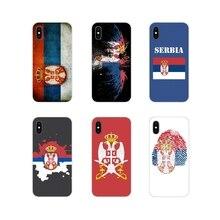 Pour Apple iPhone X XR XS 11Pro MAX 4S 5S 5C SE 6S 7 8 Plus ipod touch 5 6 Accessoires Téléphone Coque Couvre Serbie Drapeau