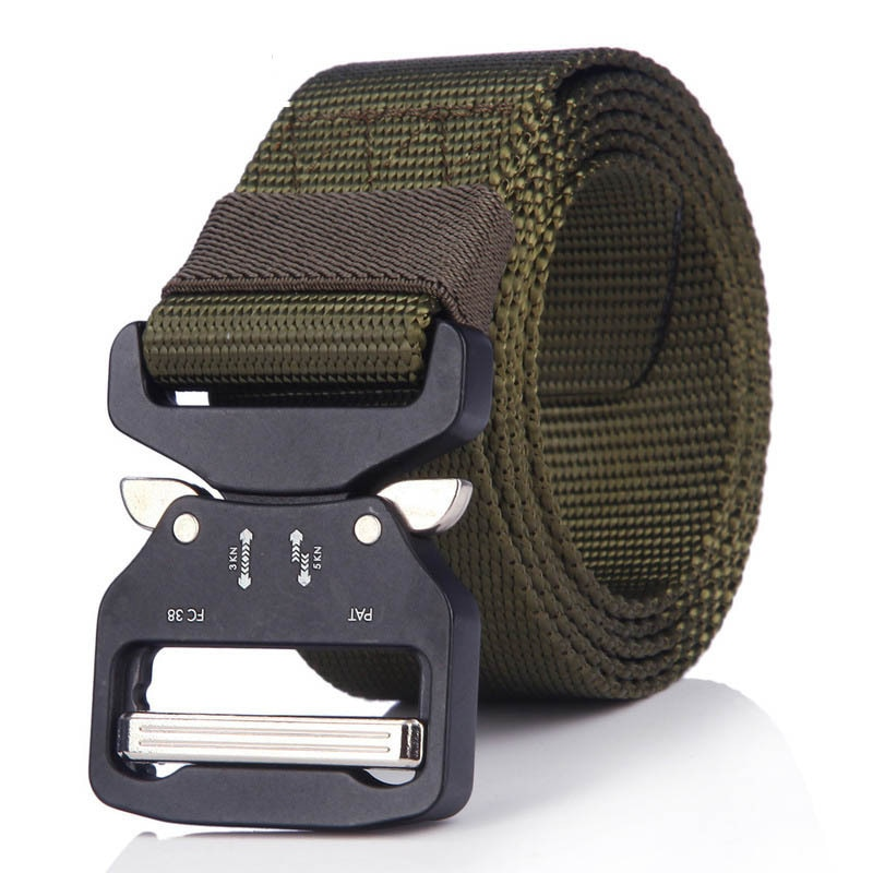 Hebilla de Cobra táctica multifunción ejército Fan cuero para actividades al aire libre cinturón Fuerzas Especiales entrenamiento imitación Nylon Web