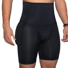 Männer Öffnen Gabelung U Konvexen Hohe Taille Abnehmen Unterwäsche Hip Fahrstuhl Boxer Höschen
