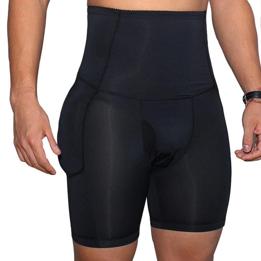 Men Open Crotch U Convex High Waist Slimming Underwear Hip Lift Boxers Panties