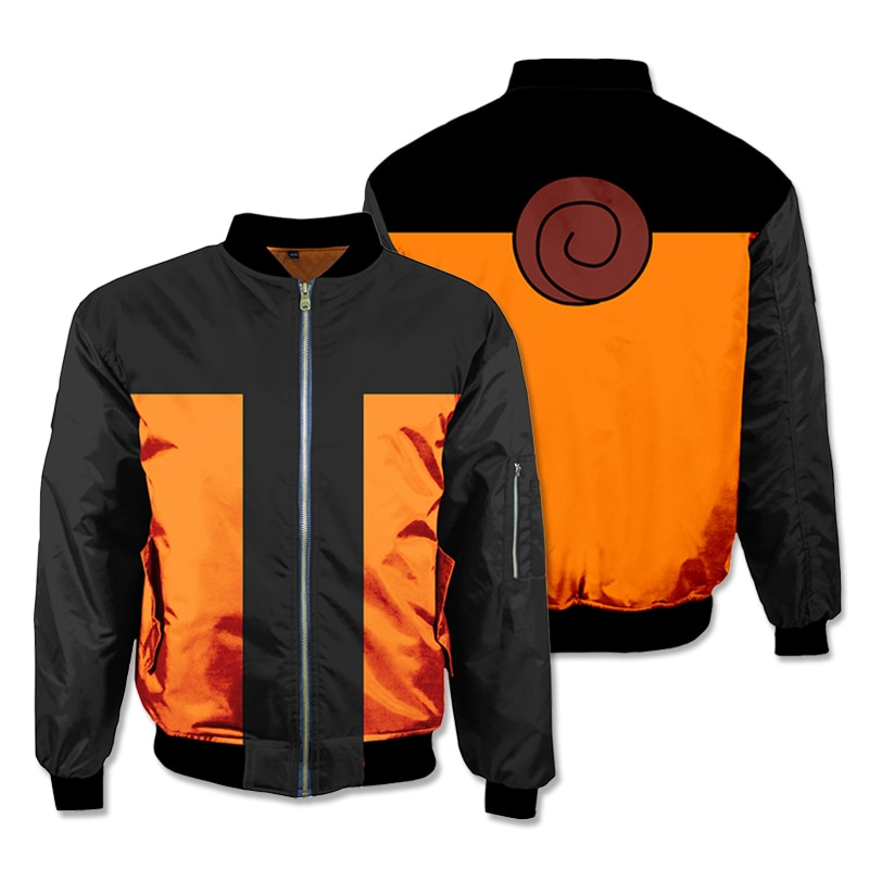 Anime  Cosplay Hoodies 3D Sweatshirts Thicken Bomber Jacket Men's Winter Flight Coat Streetwear Adult Baseball Coat top