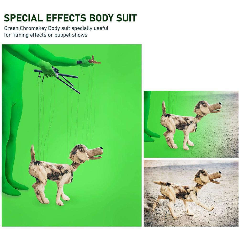 Skin Suit Photo Stretchy Body Green Screen Suit Video Accessory Photography Chroma Comfortable Effect Suit Tight Invisible C5H4 enlarge