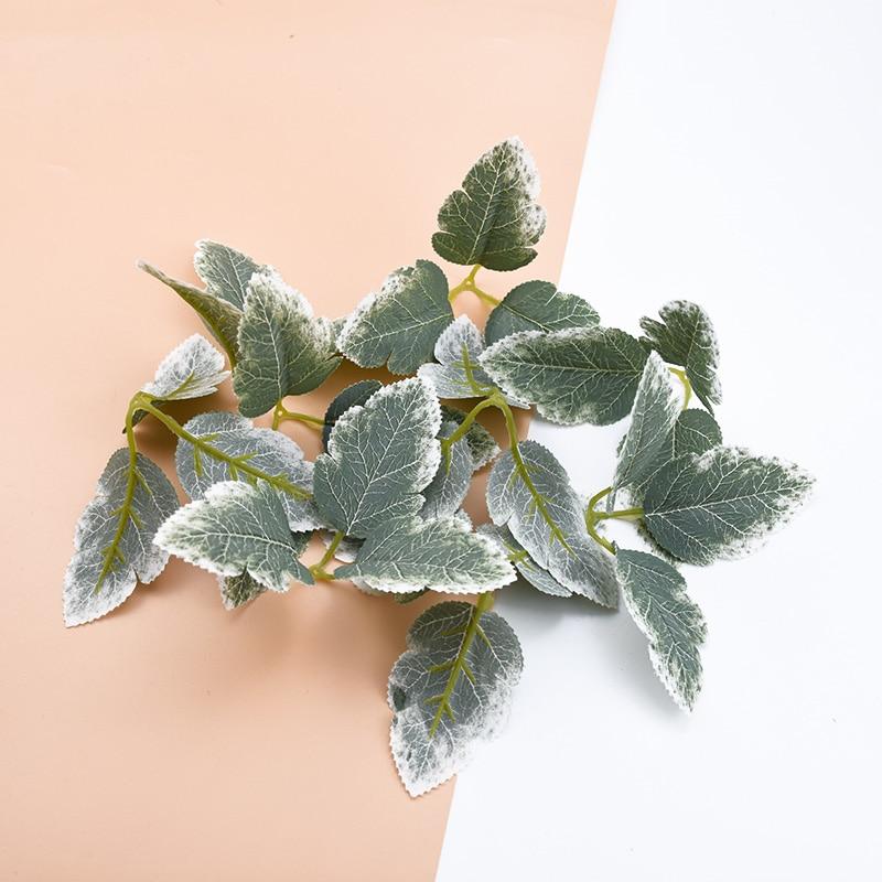Plantas artificiales de hojas verdes de seda, guirnaldas de flores decorativas para...