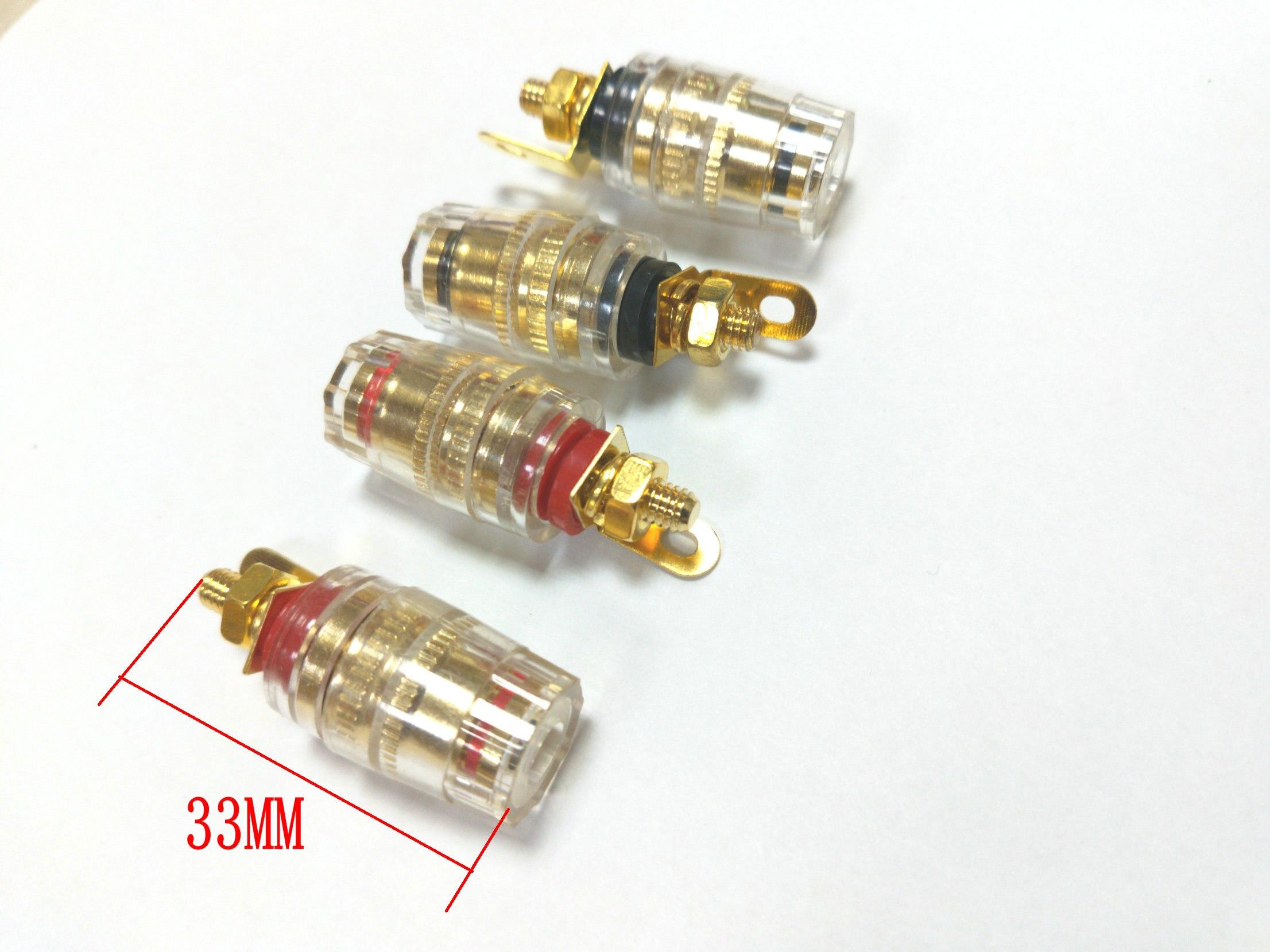 50 قطعة النحاس آخر ملزمة صغيرة ل مكبر الصوت مكبر للصوت 4 مللي متر الموز سدادة للموصلات جديد