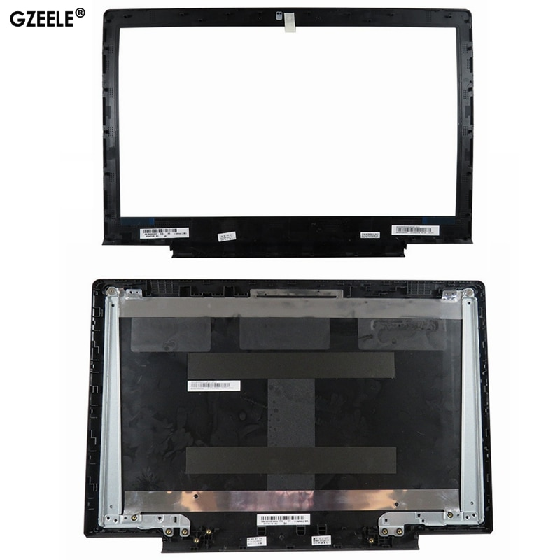 Nueva carcasa para Lenovo Ideapad 700-15 700-15isk, cubierta trasera LCD para portátil, cubierta negra, cubierta de bisel LCD, bisagras