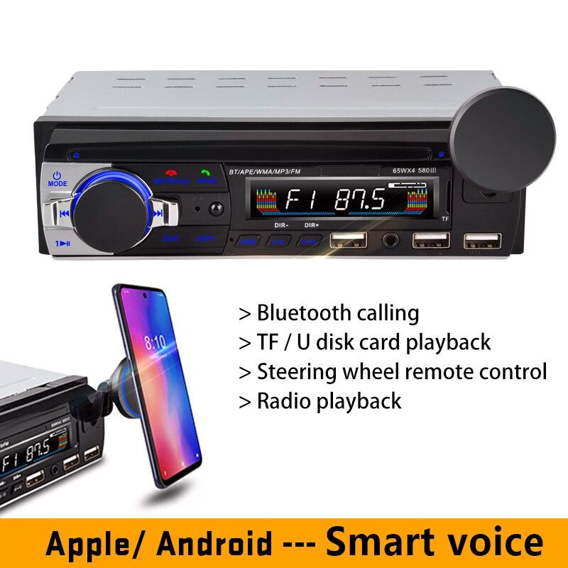 Rádio do carro magnético suporte do telefone móvel mp3 bluetooth anfitrião player 3-usb 3.1a removível sd u reprodução de disco