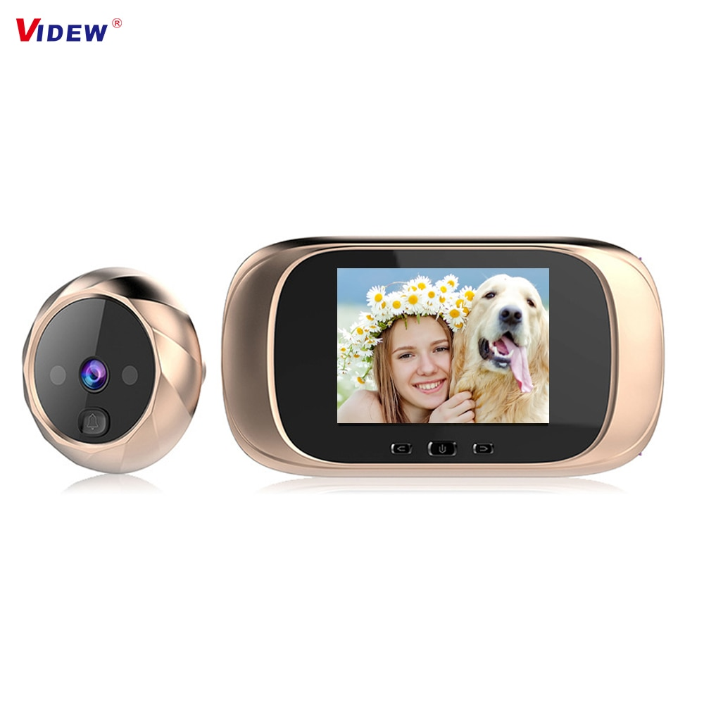 VIDEW Peephole Viewer Camera Doorbell 2.8 Inch Long Standby Video Intercom Security Night Vision HD