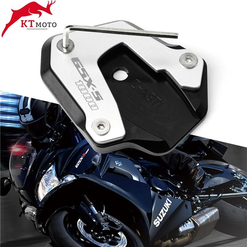 Dla SUZUKI GSX-S 1000 GSXS1000 2017-2019 2018 najnowsze wysokiej jakości motocykl CNC podpórka boczna powiększ rozszerzenie Kickstand