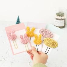 TUTU cream lamb paper clip cute and versatile plush lambs wool clip berber Fleece bookmark H0364