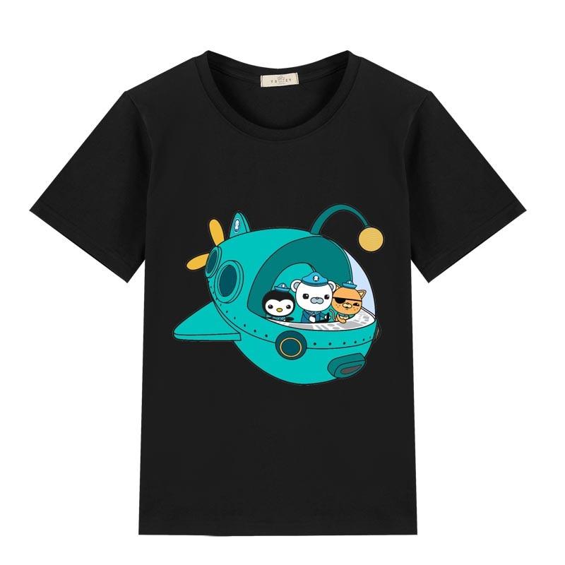New 3-12 T 100% Cotton  Octonaut  T Shirt Children T Shirts Boys Clothing Cartoon Game Pattern Kids Clothes Summer Tops