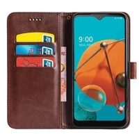 roemi for lg k51 lightweight and shockproof protective cover holster flip crazy horse pu leather cover anti slide