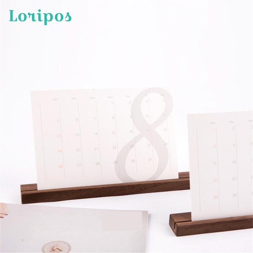 Деревянный держатель-подставка для банкнот, календаря