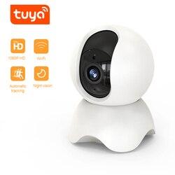 Qzt indoor câmera ip wi fi sem fio mini monitor do bebê babyphone câmera de vigilância por vídeo interior tuya câmera de segurança em casa inteligente