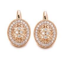 MxGxFam Hohl Blumen Muster Zirkon Hoop Ohrringe Für Frauen Mode Schmuck Gold Farbe 18 k Gute Qualität