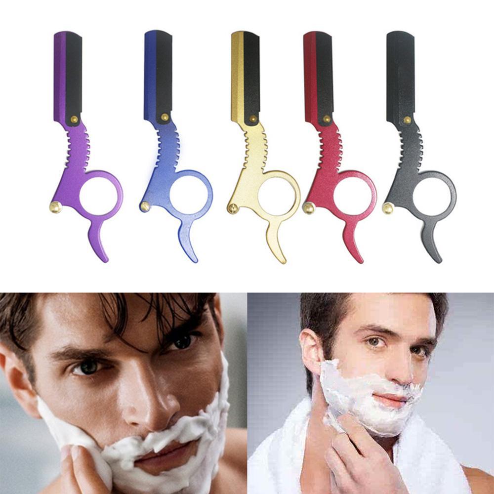 Men Razor Shaving Razor Professional Barber Straight Razor Zinc Alloy Manual Beard Shaving Razor wit