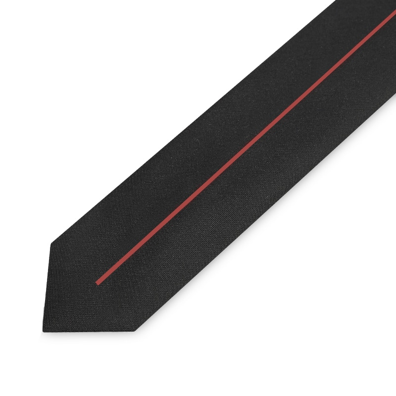 High Quality 2019 New Designers Brands Fashion Business Casual 5cm Slim Ties for Men Necktie Black Office Work with Gift Box