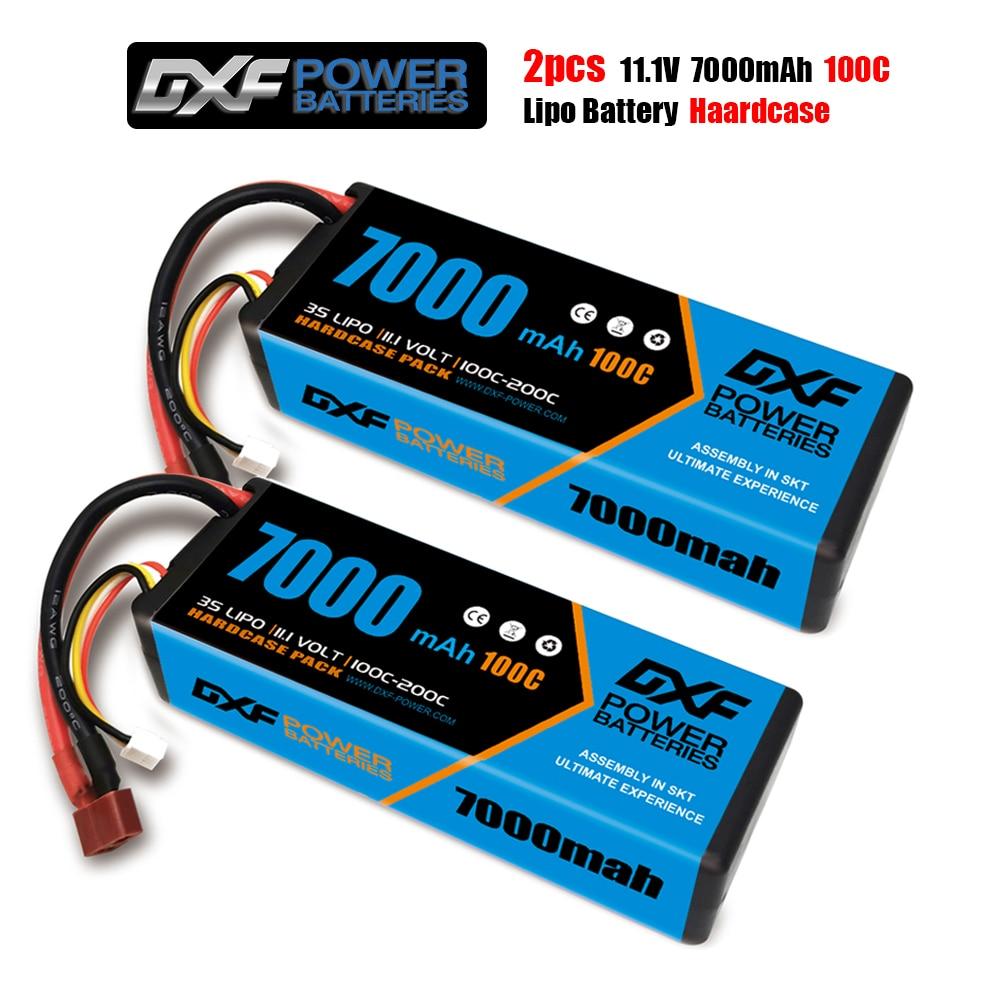 DXF RC Lipo Battery 2S 3S 4S 7.4V 11.1V 14.8V 7000mah 6750mah 6500mah 5200mah 8000mah 100C 110C Battery for Car Boat Truck Buggy enlarge