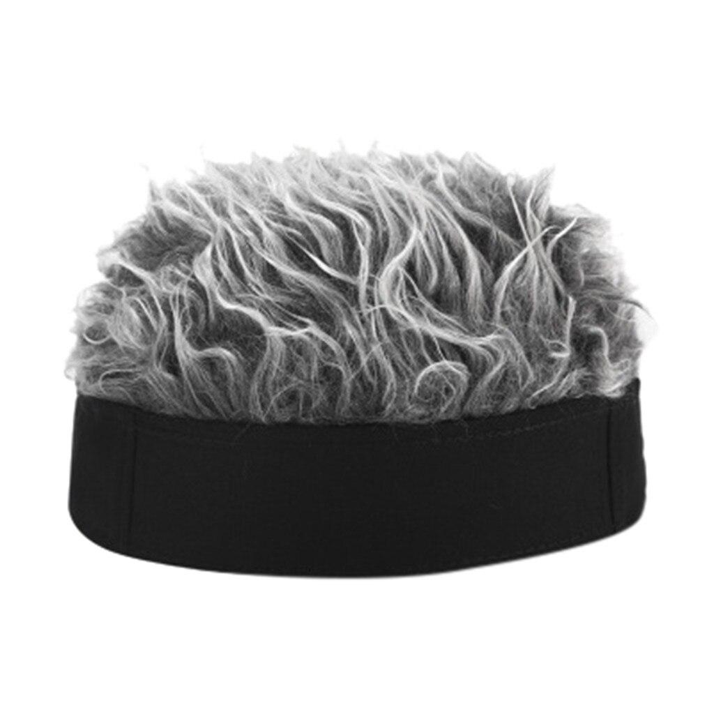 Мужская и женская мужская шапка в стиле хип-хоп шапка с шипами поддельные волосы Смешные Ретро Короткие дыни парик череп Landlord Кепка Регулируемая уличная Snapback